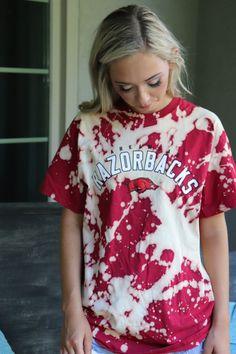 Image One NCAA Arkansas Razorbacks Womens Basic Short Sleeve T-Shirt Girls Gameday Bow Cardinal Medium