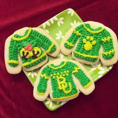 Christmas cookies -- the #Baylor way. #SicEm