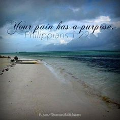 Your pain has a purpose