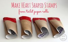 DIY Heart Shape Stamps – Danya Banya We had lots of fun stamping with these DIY heart shaped stamps which we made from - you guessed it - toilet paper rolls! Valentine's Day Crafts For Kids, Valentine Crafts For Kids, Valentines Day Activities, My Funny Valentine, Mothers Day Crafts, Valentines For Kids, Art For Kids, Activities For Kids, Craft Kids