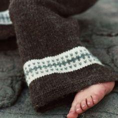 Knit Wool Longies - Knitting Pattern - Cloth Diaper Cover - Birchbark - Newborn baby to 24 months