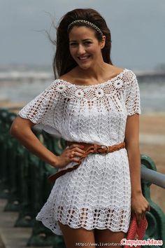 Хочу представить Вашему вниманию платье-тунику, связанное мной для девочки из славного города Харькова. Желание было - близко к оригиналу