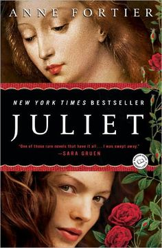"Juliet by Anne Fortier.  Oh my gosh, this is one of my favorite books. It's about a girl who goes to Italy and discovers that she's descended from the original Juliet (as in Romeo and Juliet). Then she finds out that the curse is real (""a plague o' both your houses!"") and she has to find her Romeo. It switches between modern day and Renaissance Juliet. I hate Shakespeare's story, I think that Romeo and Juliet are idiot teenagers, but wow, this book made me fall in love with Romeo."