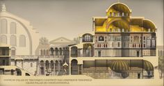 Roman/Byzantine architecture illustrations, portraits and Scenes, by Antoine…