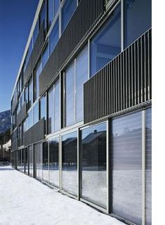 GlassX thermal storage glass.  Fantastic glazing with a phase change material that stores heat in winter and cools in summer.