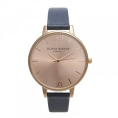 Olivia Burton Big Dial Navy and Rose Gold OB13BD13B