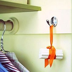 A Bundle of Chalk Hung in a Closet Will Absorb Extra Moisture & Keep Clothing Fresh & Dry…