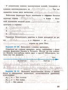 ГДЗ на странице 23 - ответ по истории 5 класса рабочей тетради Годер. 1 часть