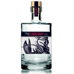 Lobster Gin is Here for Your Crustaceous Cocktail Needs: Out of the bisque and into the booze—a Belgian chef has created a lobster-infused gin to pair with your summer lobster feasts. Gin Bottles, Alcohol Bottles, Vodka Bottle, Water Bottle, Cocktails, Cocktail Drinks, Whisky, Bourbon Old Fashioned, Le Gin