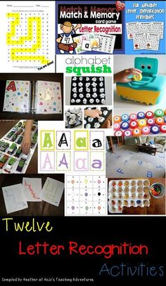Twelve Letter Recognition FREEBIES, Ideas, and Activities for your Young Learner (Great for preschool, Kinder, and those who are still struggling with letter discrimination! All FREE ideas!}