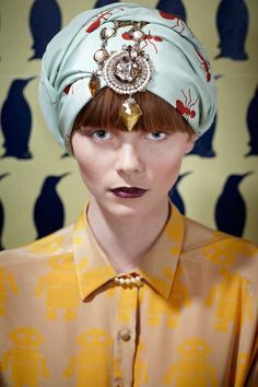 Large scale prints / Turban decadence / Dark lips / Charlotte Taylor | The House of Beccaria~
