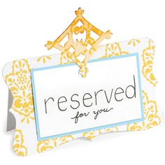 Sizzix Bigz Die-Place Card With Decorative Accent