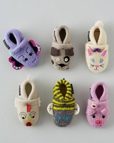 Baby Boiled Wool Slippers... Perfect for my little winter abby!