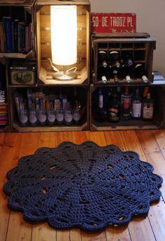 Doily rug round area rug crochet by ihanitse on Etsy, Crochet Mat, Crochet Carpet, Crochet Fabric, Crochet Motifs, Fabric Yarn, Crochet Round, Crochet Home, Cute Crochet, Crochet Doilies