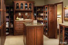 Beautiful closet. Custom closets via HomeORG.com.