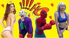 Boxing Spiderman và Công Chúa Elsa Võ Sĩ Joker và Pink Spidergirl#Phim N...