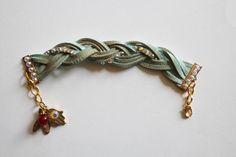 Hamsa charm bracelet, leather bracelet, Hamsa bracelet, brown leather bracelet, evil eye charm bracelet