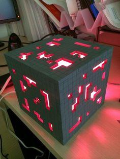 Super Solid Minecraft Redstone Lamp: 6 Steps (with Pictures) Minecraft Party, Minecraft Redstone Lamp, Minecraft Toys, Cool Minecraft, Minecraft Crafts, Minecraft Skins, Minecraft Buildings, Creeper Minecraft, Minecraft Cake