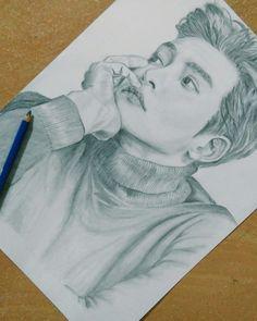 Ji Chang Wook #pencilsketch #portrait #fanart Anime Drawings Sketches, Pencil Drawings, Art Drawings, Ji Chang Wook Healer, Korean Painting, Kdrama Actors, Korean Art, Pop Idol, Kpop Fanart