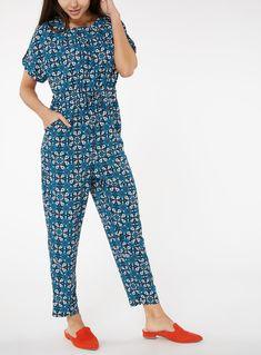 Blue Tile Print Jumpsuit from Tu at Sainsbury's ! Your Online Shop for Women's Jumpsuits