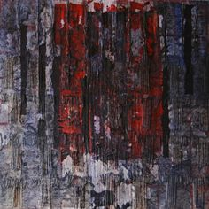 Year: 2005 - Information: Oil on canvas, mixed media painting process, 100 x 100 cm