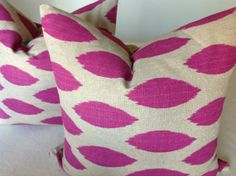IKAT Decorative  Throw  Pillow   covers   20x20 -  purple/beige   PAIR  of  two