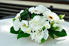 Bouquets Roses Hydrangea Eustoma Gerberas White Fl