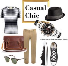 Casual Chic - Cimier Seven Seas Baracuda Watch, created by ritaqnet on Polyvore