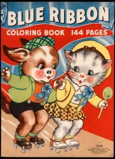 UNCOLORED-Blue-Ribbon-Coloring-Book-3435-Merrill-1939-Florence-Salter-4191