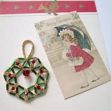 Image result for bugle bead christmas ornaments