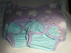 Newborn Prefold Diapers Set - Prefolds and coordinating covers