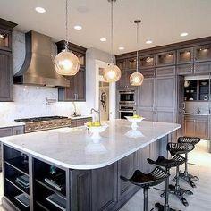 Kitchen with White Granite Countertops, Kitchen, Neighborhood Builders