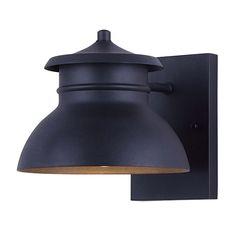 """WINSTON, LOL255BK, 1 Lt Outdoor Down Light, 12W Integrated LED, 550 Lumens, 8"""" W x 7 1/2"""" H  x 9 3/4"""" D"""