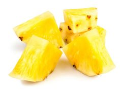 9 Healing Foods for Every Ailment   Yahoo Health This tropical fruit contains bromelain, a compound that calms the skin inflammation that happens when you get a bruise. Eat about a cup and a half of pineapple chunks throughout the day and drink water to speed healing.