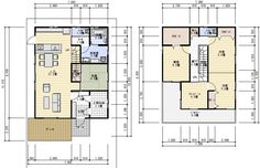 36坪フリースペースのある間取り Floor Plants, My House, House Plans, Flooring, How To Plan, Space, House Styles, Interior, Room