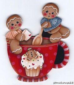 Gingerbread Crafts, Gingerbread Decorations, Christmas Gingerbread, Gingerbread Cookies, Christmas Decorations, Holiday Decor, Christmas Tea, Christmas Crafts, Xmas