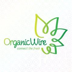 #Organic #Wire #Flower logo