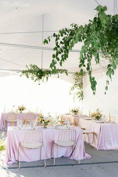 Summer Wedding Ideas We Can't Get Enough Of - ElegantWedding.ca Table Setting Inspiration, Head Tables, Wedding Place Settings, Wedding Receptions, Wedding Centerpieces, Summer Wedding, Party Ideas, Wedding Ideas, Table Decorations