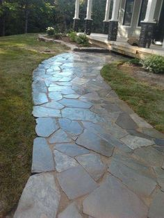 Ayles Natural Landscaping stone walkway