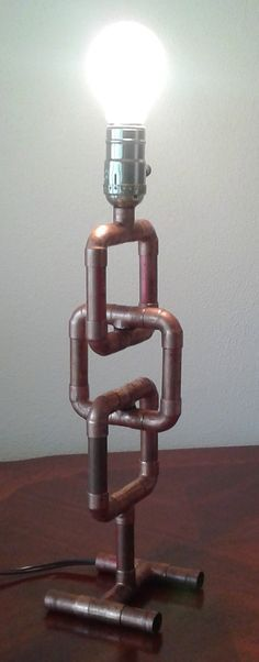 Copper Pipe Lamp The Link by TonyLamps on Etsy
