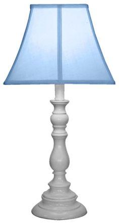 Amazon.com - Creative Motion White Base Resin Table Lamp, Light Blue -
