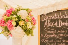 Look at this huge vase of flowers decorations our lovely marquee here at Shilstone!