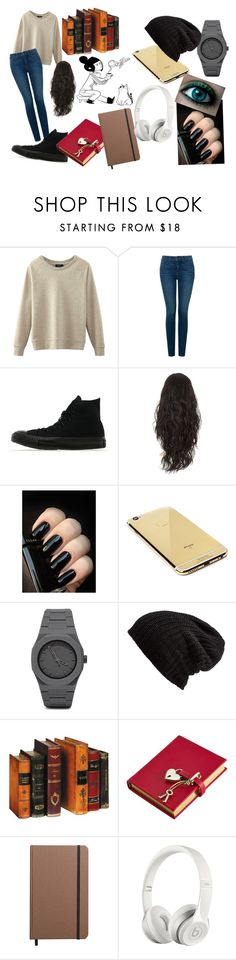 """""""Books....."""" by bonster-monster on Polyvore featuring NYDJ, Converse, Goldgenie, CC, Free People, Graphic Image, Shinola and Beats by Dr. Dre"""