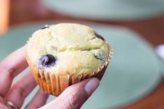 Keto Lemon Blueberry Muffins - Gluten Free and Low Carb