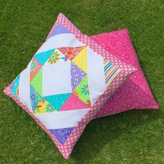 First two pillows finished!  lve this #hideho line by @meandmysisterdesigns @sewsweetness #sewcialchallenge