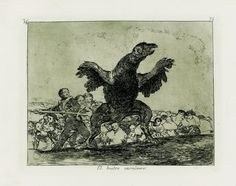 Francisco de Goya - El buitre carnívoro. Los Desastres de la Guerra nº 76