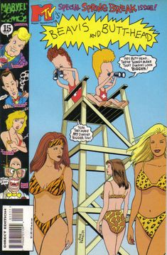 GCD :: Cover :: Beavis & Butt-Head #15 Dental, Road Trip, Comics, Dinghy, Cartoons, Beach, Jon Boat, Cartoon, The Beach
