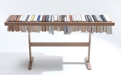 A Bookshelf That Doubles As A Table, Library - DesignTAXI.com