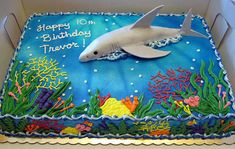 Under the Sea Birthday Sheet Cake Under the Sea Birthday Sheet Cake Under the Sea Birthday Sheet Cake Great White Shark Birthday Cake Under the Sea Sheet Cake Ocean Birthday Cakes, Ocean Cakes, Birthday Sheet Cakes, Birthday Fun, Birthday Ideas, Fish Birthday Cakes, Birthday Cakes For Boys, Birthday Sweets, Fourth Birthday