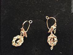 Antigüedades: Juego oro 14K y esmeraldas del siglo XIX, anillo, pendientes del siglo XIX - Foto 6 - 64661967